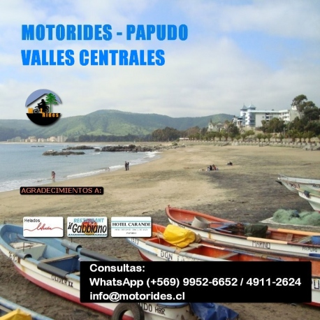 Tour en Moto – Papudo, por Valles Centrales