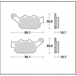 Pastillas de Freno Diafrag Dura Tech LMP214