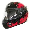 Casco Moto LS2 FF352 Rokie Chroma Negro Rojo