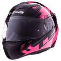 Casco Moto LS2 FF352 Rokie Chroma Negro Rosa